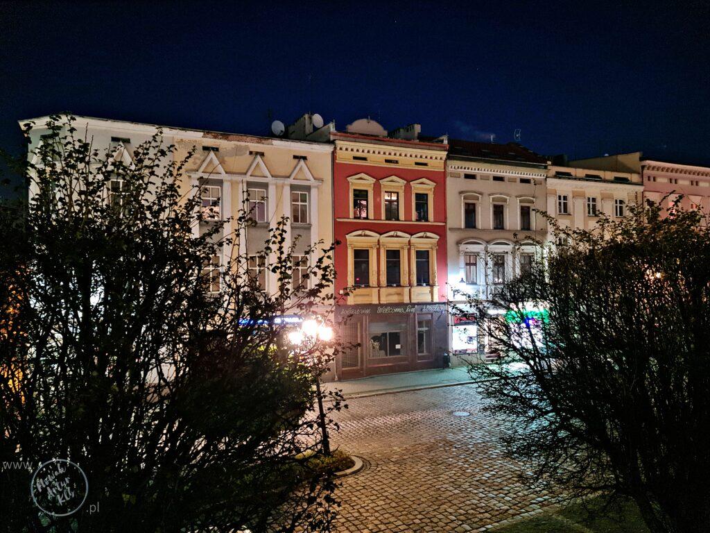 Kamienice w północnej części kluczborskiego rynku